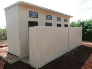 The gender-friendly toilet block provides sanitation and security (Image Source: BNMT)