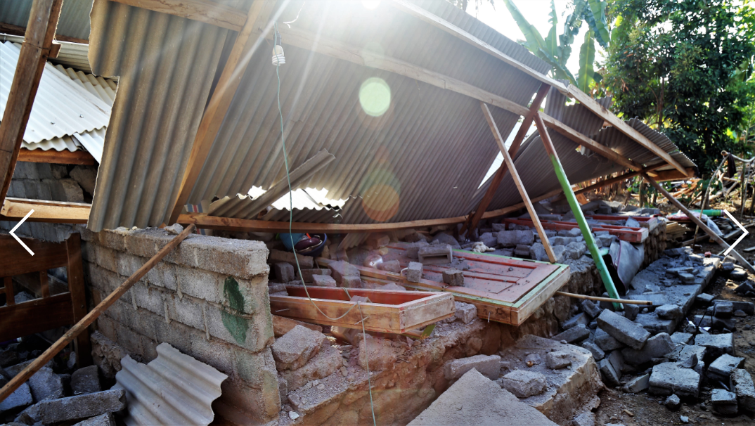 One man was killed as his house collapsed around him on the island of Lombok during the devastating 2018 earthquake.